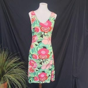 BCBG Paris Form Fitting Floral Mini Dress S